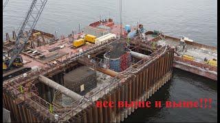 Строительство моста через Волгу со стороны г. Тольятти. от 21.09.2021 с комментариями