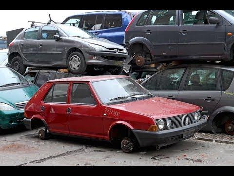 Il ricordo prima della demolizione ... Fiat Ritmo 60 ... non era da pressare