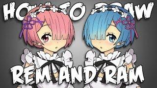 Draw Rem & Ram From Re:Zero
