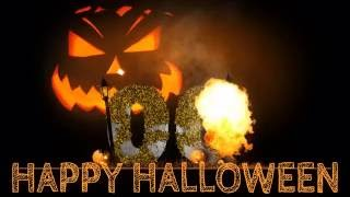Happy Halloween ( v 474 ) Countdown Timer 5 sec with sound effects HD 4k