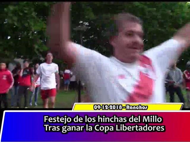 Festejos de los hinchas del Millo tras ganar la Copa Libertadores