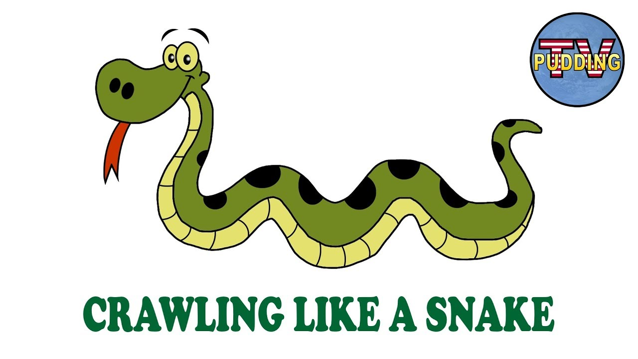 Crawling Like A Snake Children S Songs With Animation Youtube