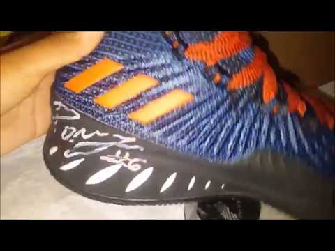 more photos 2cae8 e13b0 Adidas Crazy Explosive 17 Kristaps Porzingis PE Only 100 Pairs In The  World Signed Pair