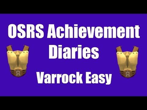 [OSRS] Varrock Easy Achievement Diary Guide - Oldschool Runescape Quest  Guide
