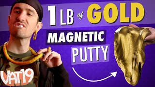 Huge Tin of Gold Magnetic Putty