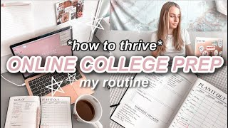 How To Prepare for Online College Classes! My Online College Prep Routine 2020