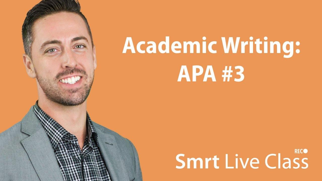 Academic Writing: APA #3 - English for Academic Purposes with Josh #15