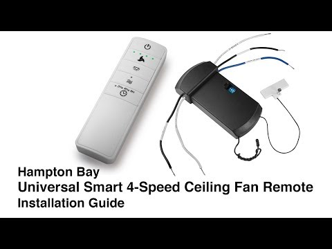 How to Install the Universal WINK Ceiling Fan Remote Control - YouTube