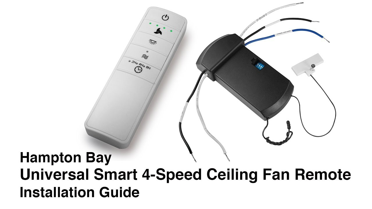How To Install The Universal Wink Ceiling Fan Remote Control Youtube Hampton Bay Wiring Diagram