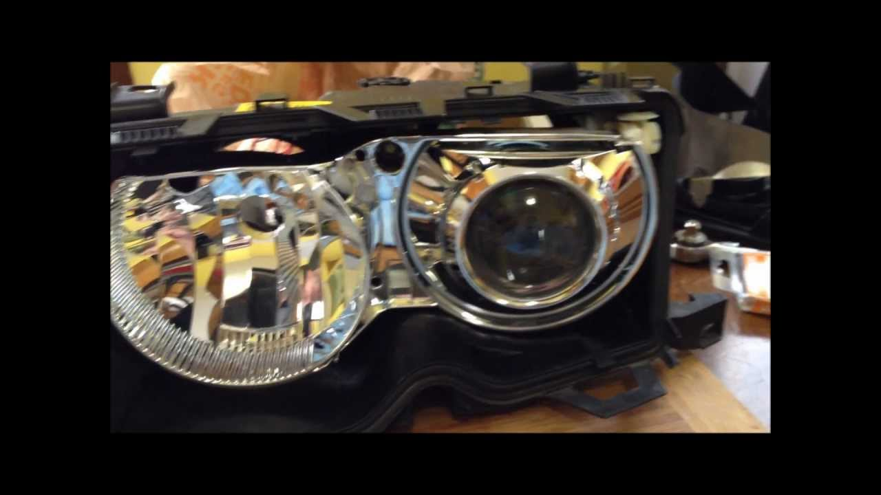 Diy Bmw E46 Zkw Clear Lens Swap Headlight Disassembly