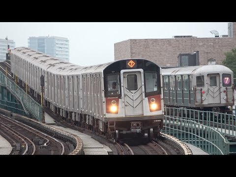 ⁴ᴷ R62A and R188 (7) Train Morning Rush and Midday Action