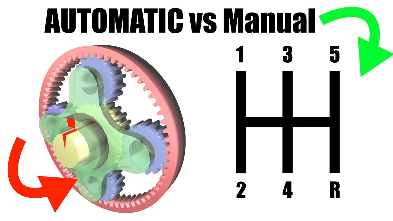 automatic vs manual transmission explained youtube