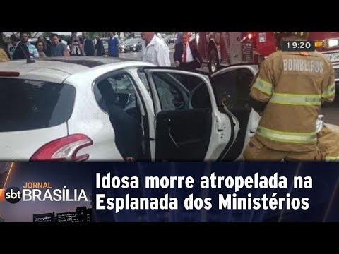 Idosa morre atropelada na Esplanada dos Ministérios