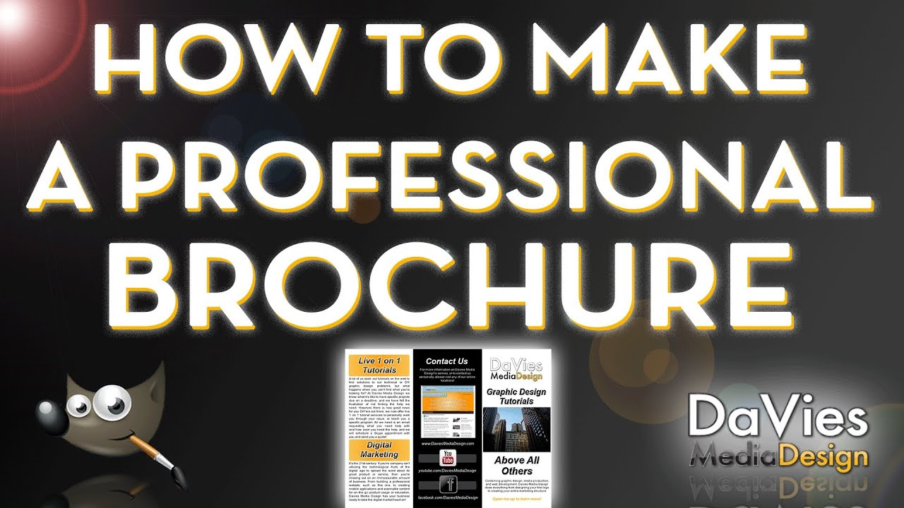 How To Make A Professional Brochure In Gimp  Youtube