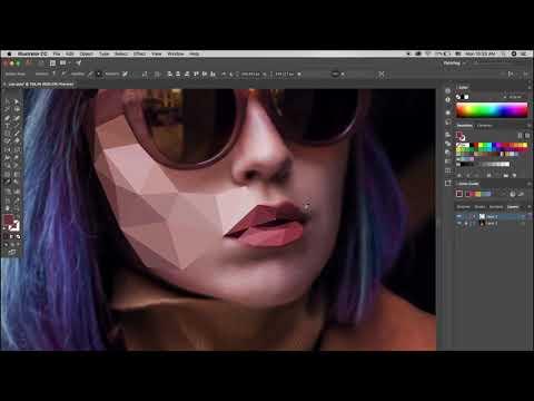Полигональное рисование Low Poly Art Tutorial   Adobe Illustrator