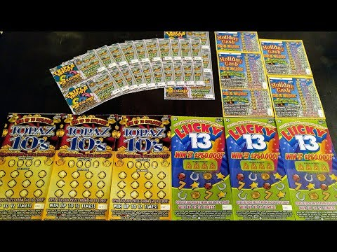 Florida Lottery Scratch Offs - $250,000 Top Prize - $63 Session - 4 Games !