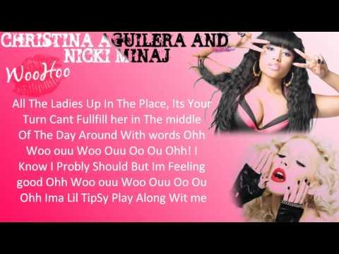 Christina Aguilera Ft. Nicki Minaj Woohoo W/Lyrics On Screen