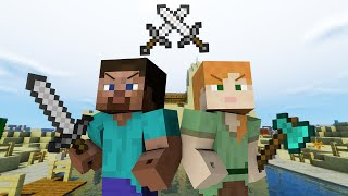 Alex VS Steve - Minecraft PART 3