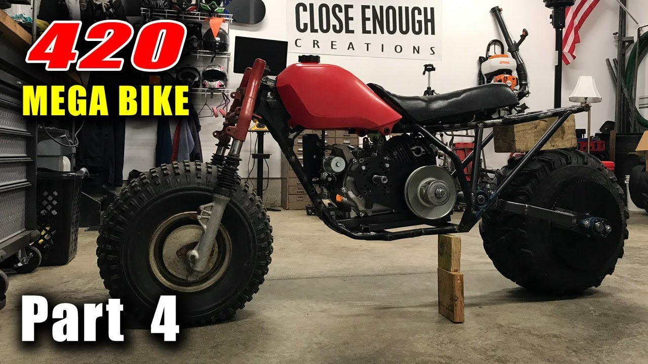 MEGA Bike Build Pt  4 - Honda Big Red ATC w/ Predator 420 - Swing Arm
