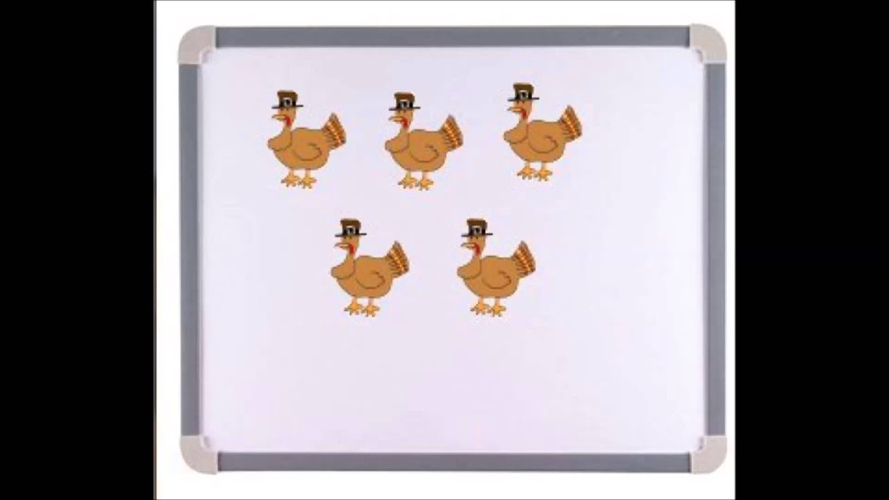 Five Little Turkeys Rhyme