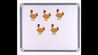 Five Little Turkeys Rhyme - Preschool Thanksgiving Theme - Using Numbers - Educational Video