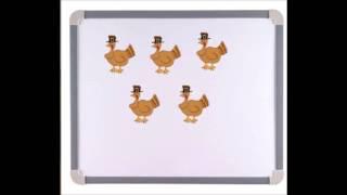 Five Little Turkeys Rhyme - Preschool Thanksgiving Theme - Using Numbers - Educational Video