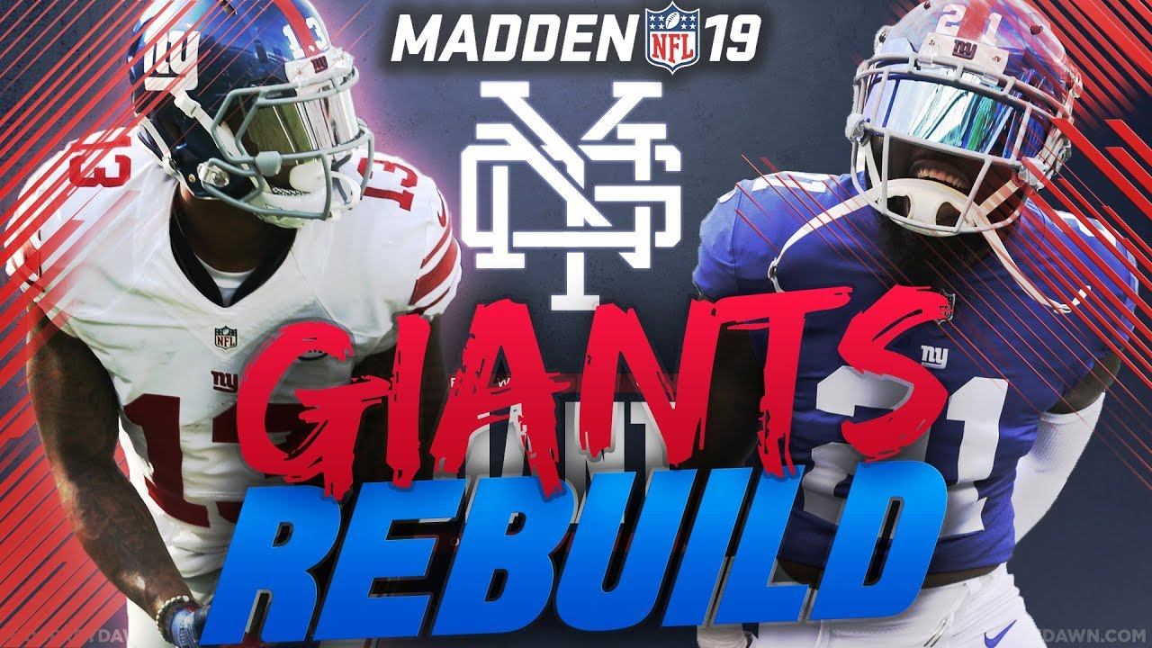 Rebuilding the New York Giants   Madden 19 Franchise   Saquon Barkley Rookie of the Year!