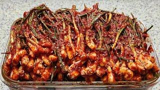 초간단 파김치 맛있게 담그는법 김치요리 쪽파요리 파김치…