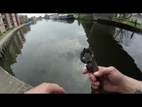 GUN PISTOL FOUND !!!! Magnet Fishing Tales From The River Bank