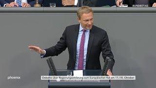 Christian Lindner (FDP) zur Regierungserklärung von Angela Merkel zum Europäischen Rat am 17.10.19
