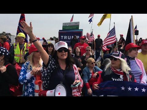 Trump Supporters Rally For New Border Wall