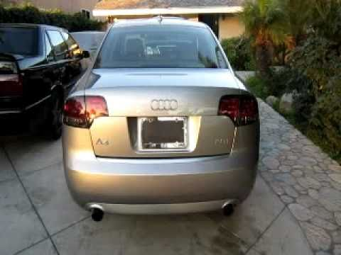 Audi A4 S4 B7 Smoked Red Led Tail Lights 05 06 07 08 Youtube