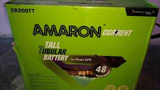 Amaron Current Tall Tubular 200ah Battery short unboxing