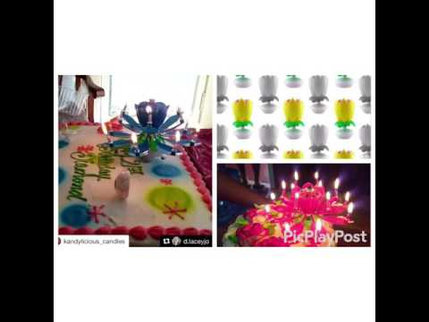 14pcs candle music flower birthday candle