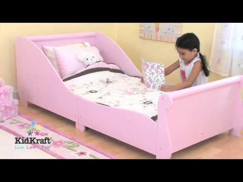 Tedstoyshopcouk Kidkraft Pink Sleigh Toddler Bed 86735