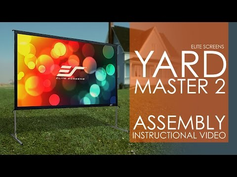 Elite Screens Yard Master 2 Outdoor Projection Screen Setup & Assembly