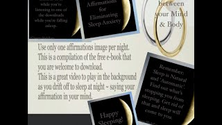 Positive Affirmations for Sleep Anxiety-New-Age Nature Background Music