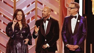 Jason Statham Speech At The Golden Globe Awards 2016. HDTV