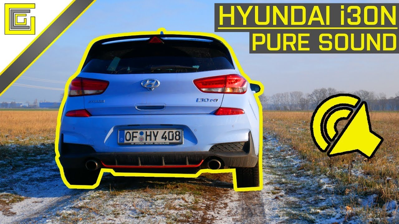 2019 hyundai i30 n performance pure sound i revs startup tunnel exhaust sound 4k youtube