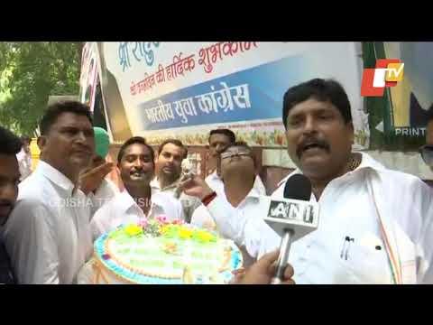 Congress supporters celebrate Rahul Gandhi's birthday in Delhi
