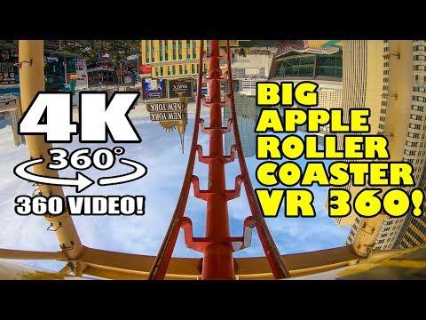 Big Apple Roller Coaster VR 360 Virtual Reality POV Las Vegas Manhattan Express NYNY Hotel Casino