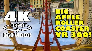 Big Apple Roller Coaster VR 360 Virtual Reality POV Las Vegas Manhattan Express NYNY Hotel Casino