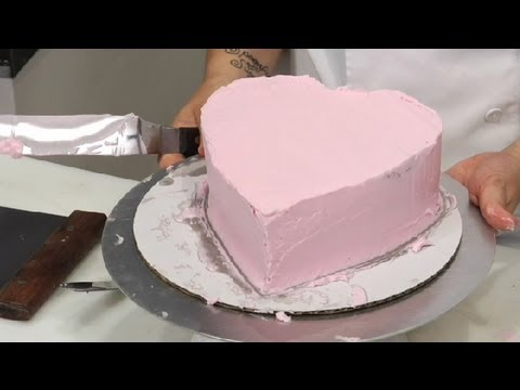 How To Frost A Heart Cake Cake Decoration Ideas Youtube