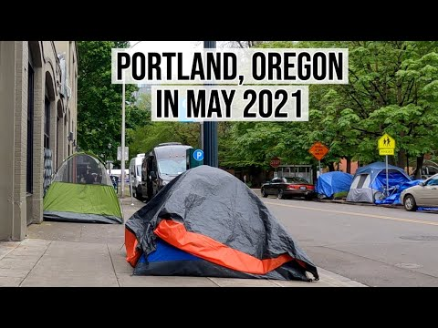 May Day 2021 in Portland, Oregon - What Downtown Looks Like