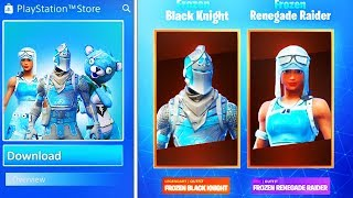 "New ""FROZEN LEGENDS PACK 2"" in Fortnite (FROZEN RENEGADE RAIDER + BLACK KNIGHT)"