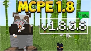 MCPE 1.8 BETA PANDAS! - Minecraft Pocket Edition - NEW Pandas, Bamboo, Cats & More!