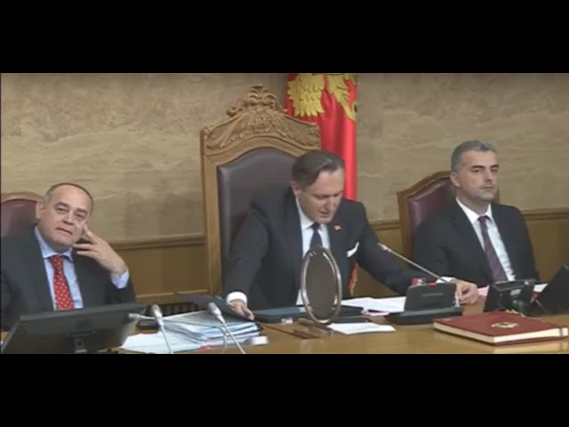 Skupština Crne Gore - glasanje - Ranko Krivokapi? i novi ministri 18.05.2016.