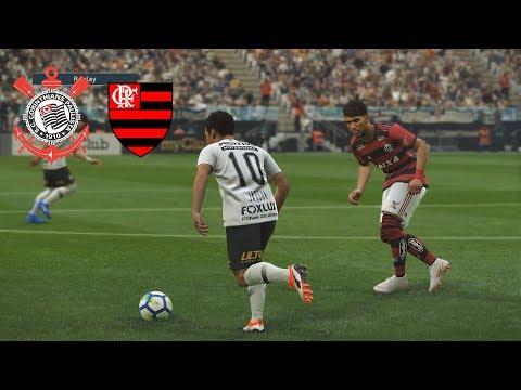 CORINTHIANS VS FLAMENGO - Semifinal da Copa do Brasil 2018 -  PES 2019