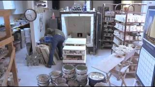 Unloading the Kiln at the Wallyware Pottery Studio (timelapse)