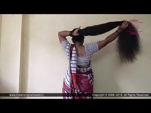 ILHW Rapunzel Neelima's Hair Flaunting, Bun Drops & Self Hair Play With Calf Length Extra Thick Mane